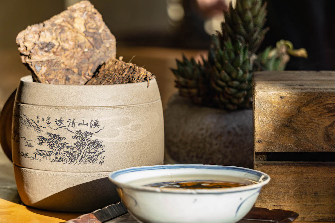 Tea of the month, Panchen Lama.  A tabletop tea photo by Dalton Johnson Media,  www.daltonjohnsonmedia.com  or  @daltonjohnsonmedia