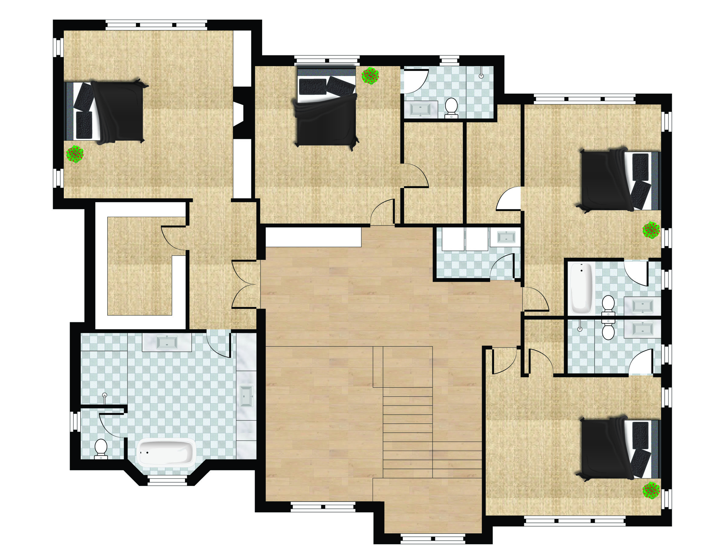 Floor Plans — ZenHouse Collective on modern minimalist house floor plan, zen house design concept, zen house design style,
