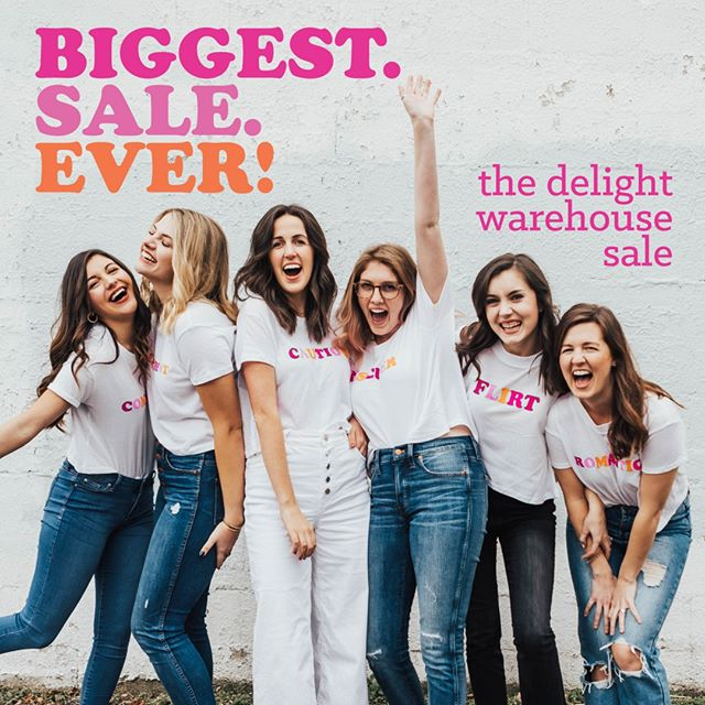 It's our BIGGEST. SALE. EVER! 🤩 Now through Sunday, we are having the biggest warehouse sale we've ever had, both online and in the Delight offices. ⠀⠀⠀⠀⠀⠀⠀⠀⠀ ⠀⠀⠀⠀⠀⠀⠀⠀⠀ This is NOT A DRILL! Visit our website ASAP for the best deals on...⠀⠀⠀⠀⠀⠀⠀⠀⠀ + t-shirts⠀⠀⠀⠀⠀⠀⠀⠀⠀ + sweatshirts⠀⠀⠀⠀⠀⠀⠀⠀⠀ + books⠀⠀⠀⠀⠀⠀⠀⠀⠀ + & sooooo much more!!!⠀⠀⠀⠀⠀⠀⠀⠀⠀ ⠀⠀⠀⠀⠀⠀⠀⠀⠀ What are you waiting for?? Click the link in our bio or swipe up on our stories to order! 💖