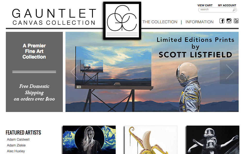 Gauntlet Gallery  - Great gallery with a vast selection of prints from the artists that they exhibit. It's an excellent way to get your hand on some work from emerging local artists without spending your rent money on art.