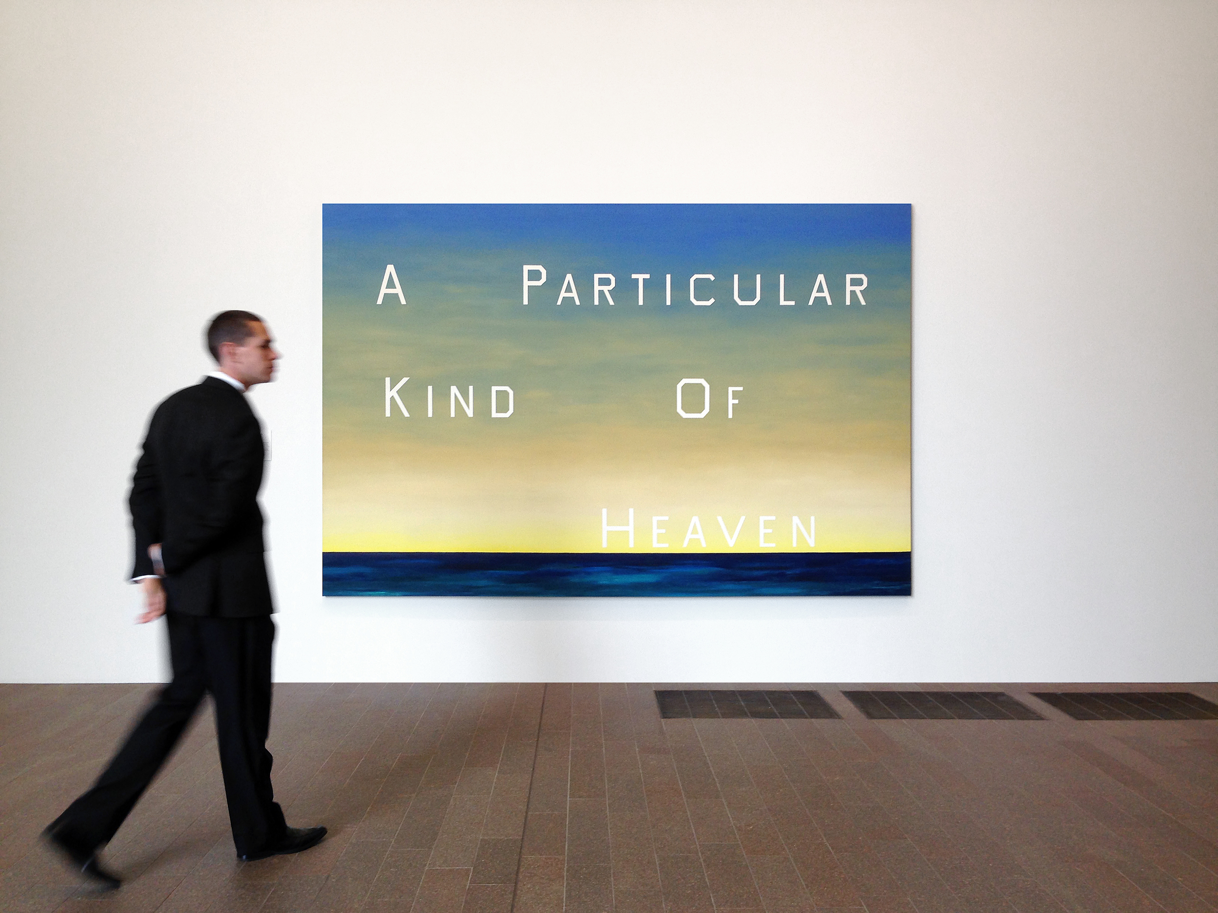 Ed Ruscha,  A Particular Kind of Heaven , 1983 – on display at de Young Museum