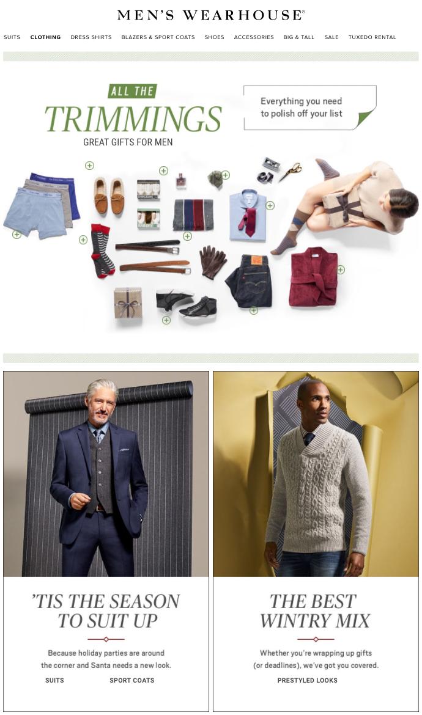 client:  The Men's Wearhouse  | post production & color:  The Post Shop