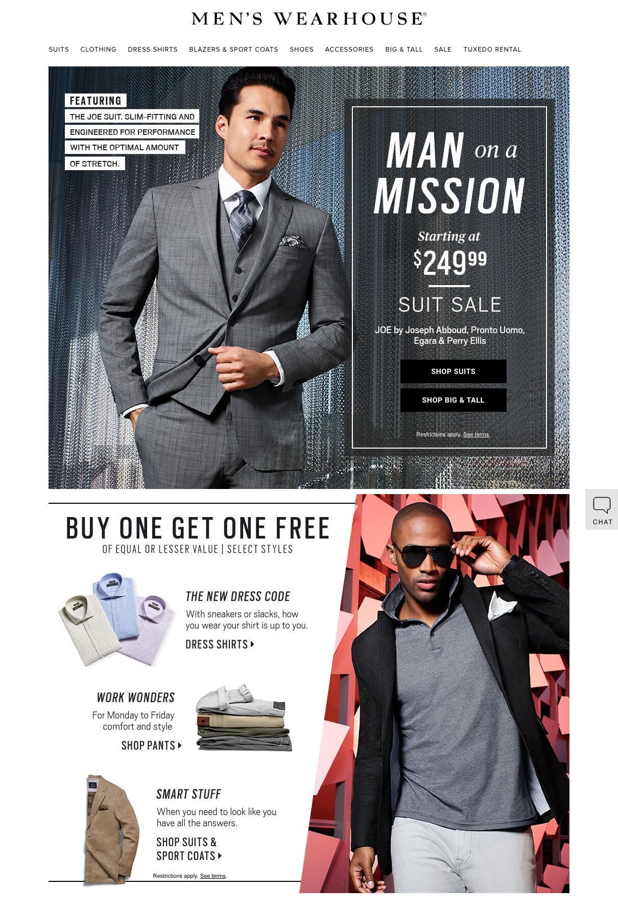 client:  Men's Wearhouse  | post production & color:  The Post Shop