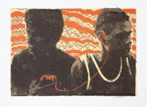 Djuwakan 2 (DJ) Marika,  Mari , 2012, screenprint. Image courtesy the artist and Buku-Larrnggay Mulka Centre