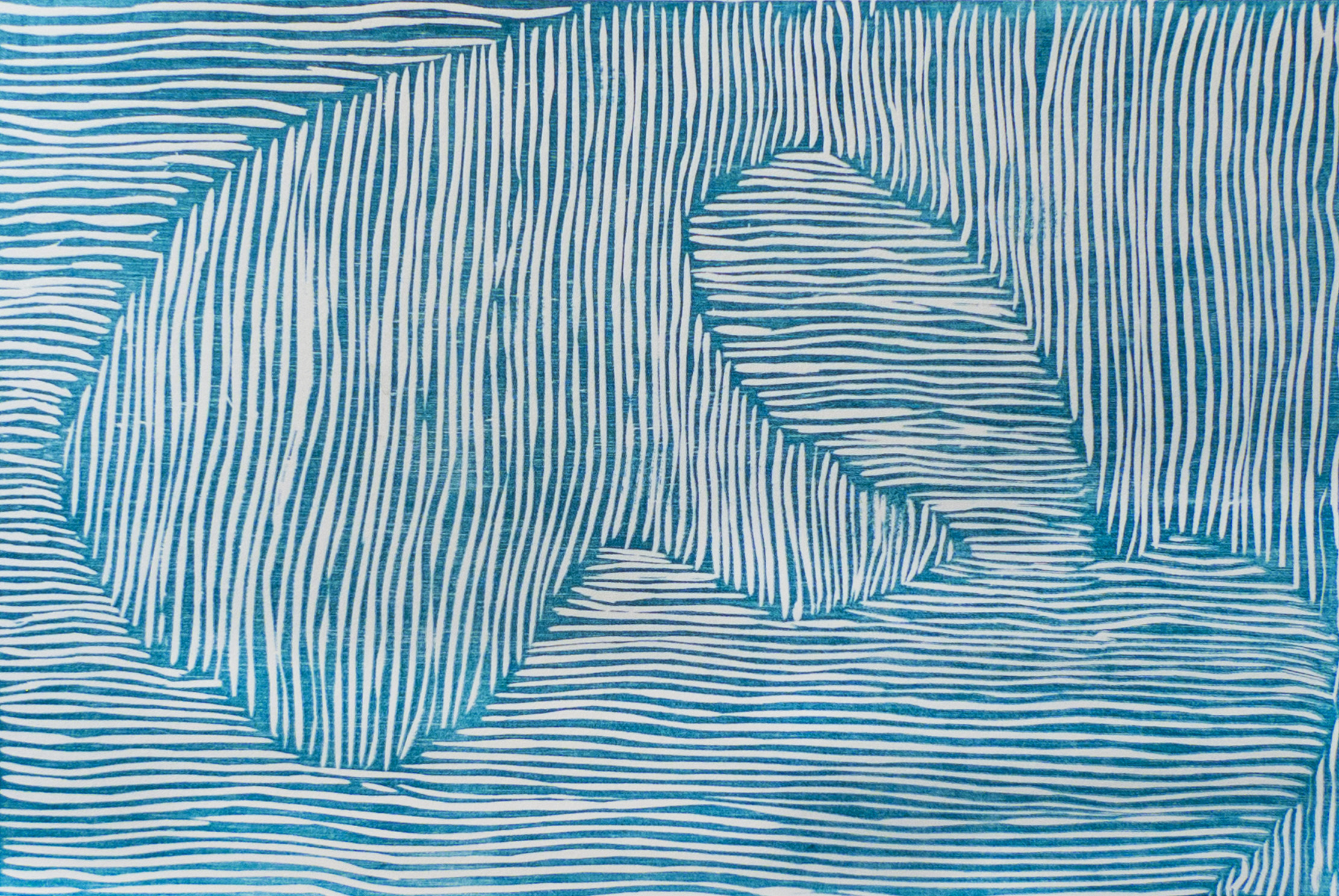 Cathy Robinson, untitled, reduction woodblock on Magnani paper, 2012.