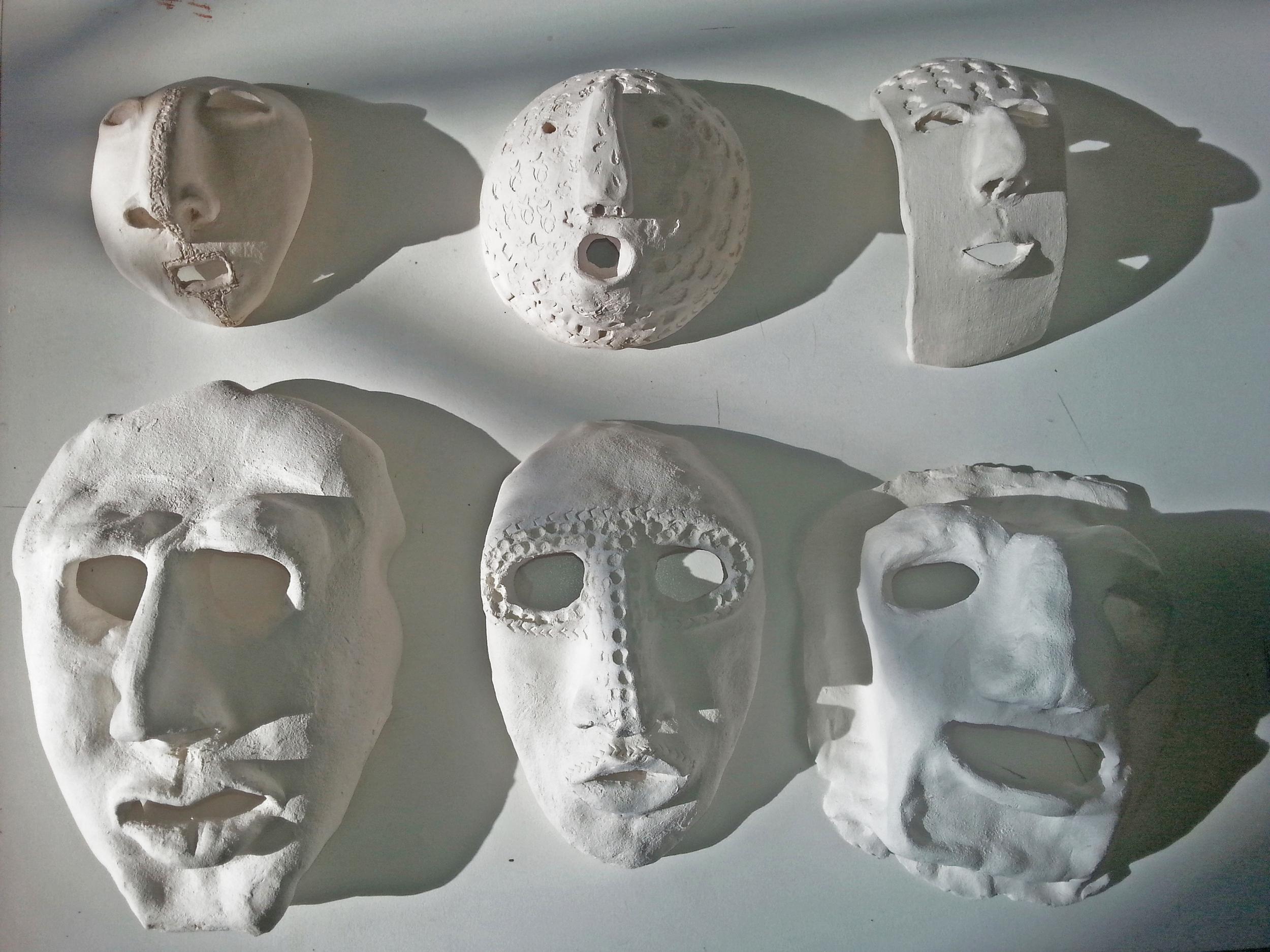 Ceramic masks in progress