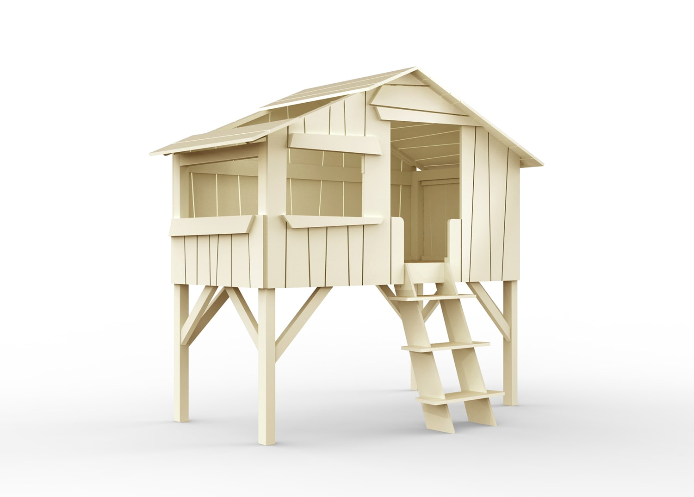 "Lit cabane blanc  pour enfant -  ""Treehouse"" Mathy by Bols"