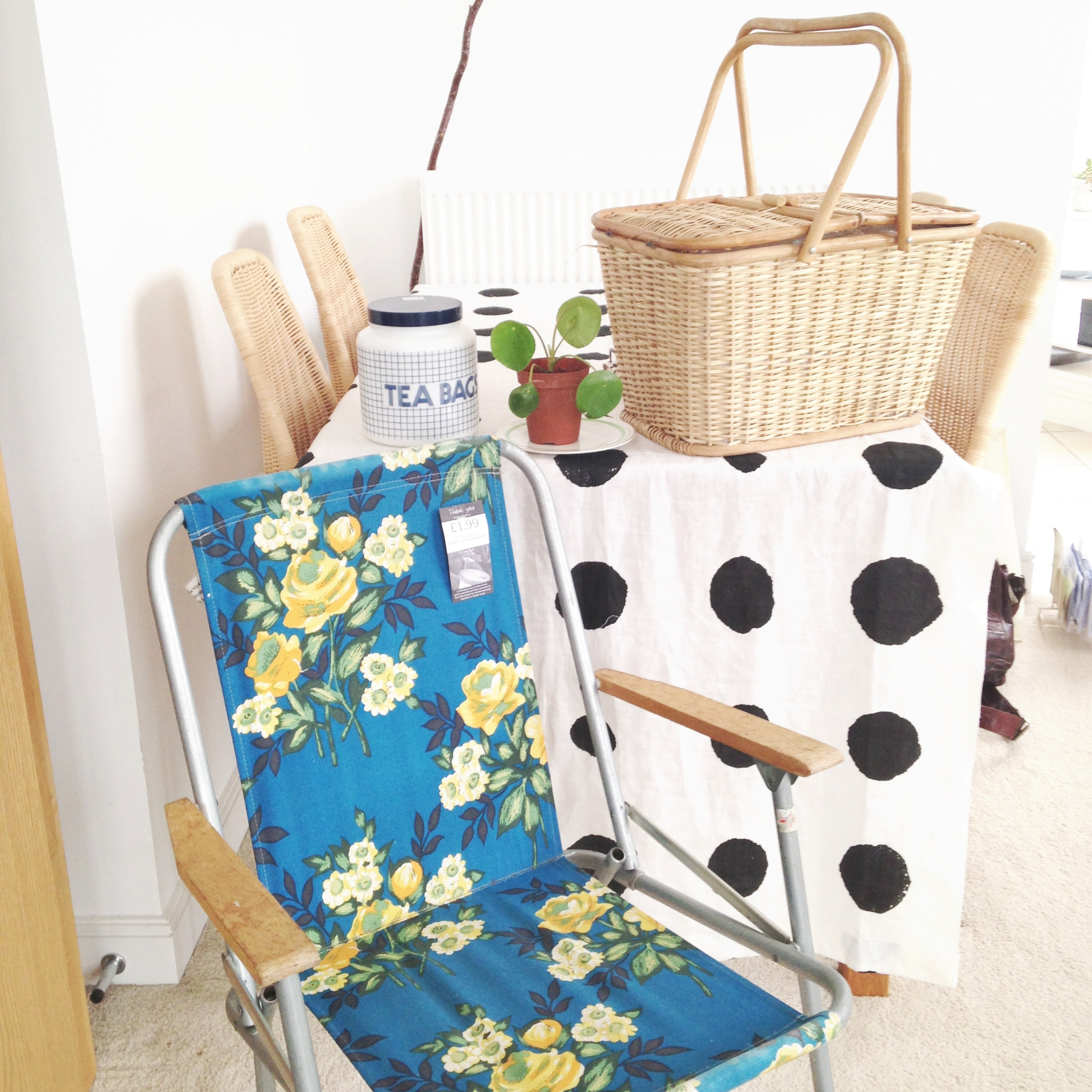5//. this little stash of goodies from a recent charity shop wander - I'm especially proud of my £1.99 garden chair!