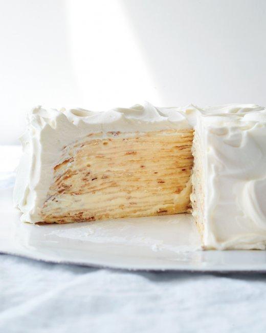 Lemon-Mascarpone Crêpe Cake