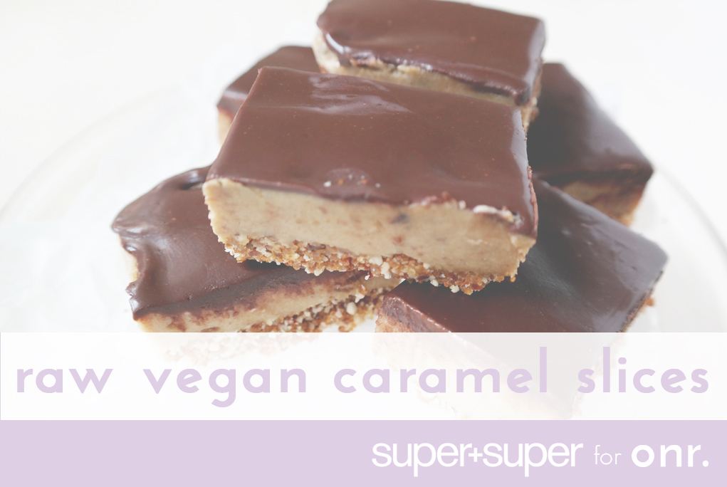 Raw vegan caramel slices