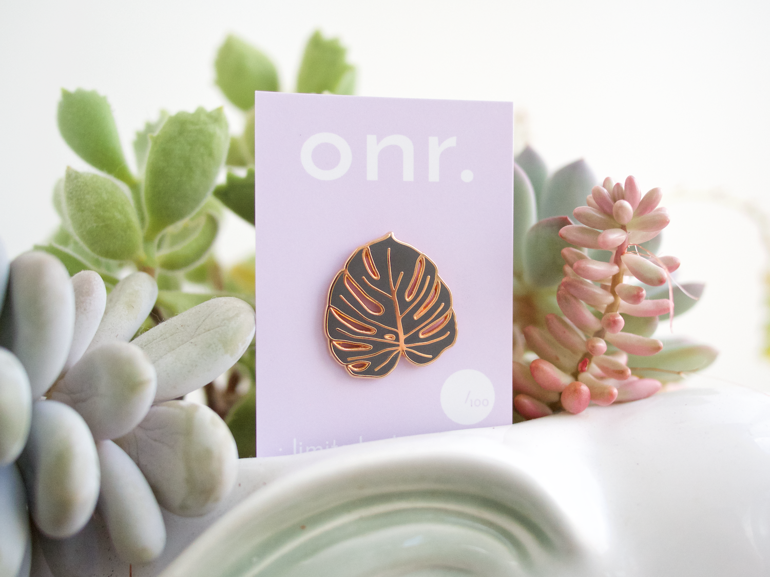 onr. shop // limited edition monstera leaf pin