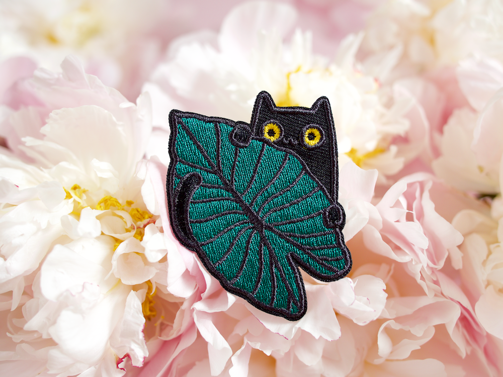 onr. shop Jungle kitty embroidered iron-on patch
