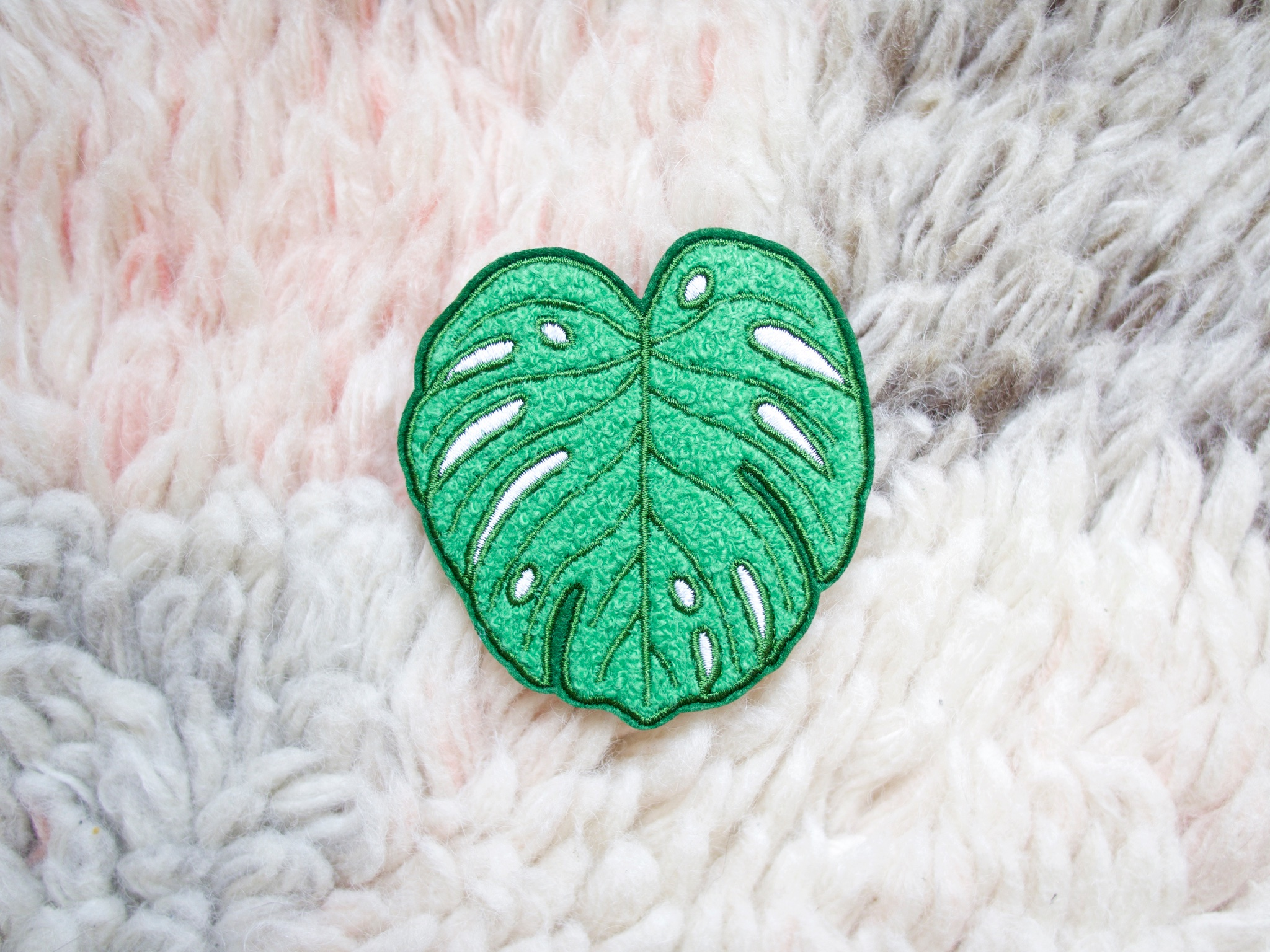 onr. shop Monstera Leaf chenille embroidered patch