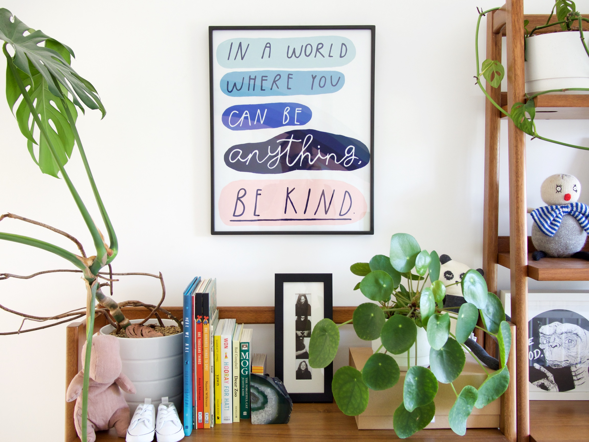 {onr.} Baby Room Reveal: BE KIND painting