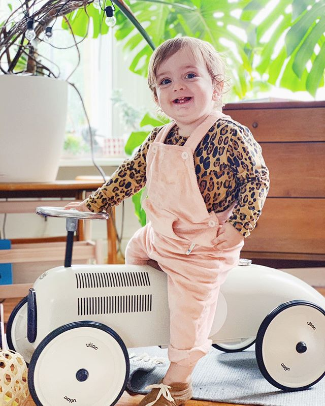 HOW did my baby get so big?! Look at him just casually sitting on his little car! It seems like all of a sudden he's grown little a little bean stalk & he looks like a little person not a baby! . {his lovely dungas were a past gift from @jujunikids}