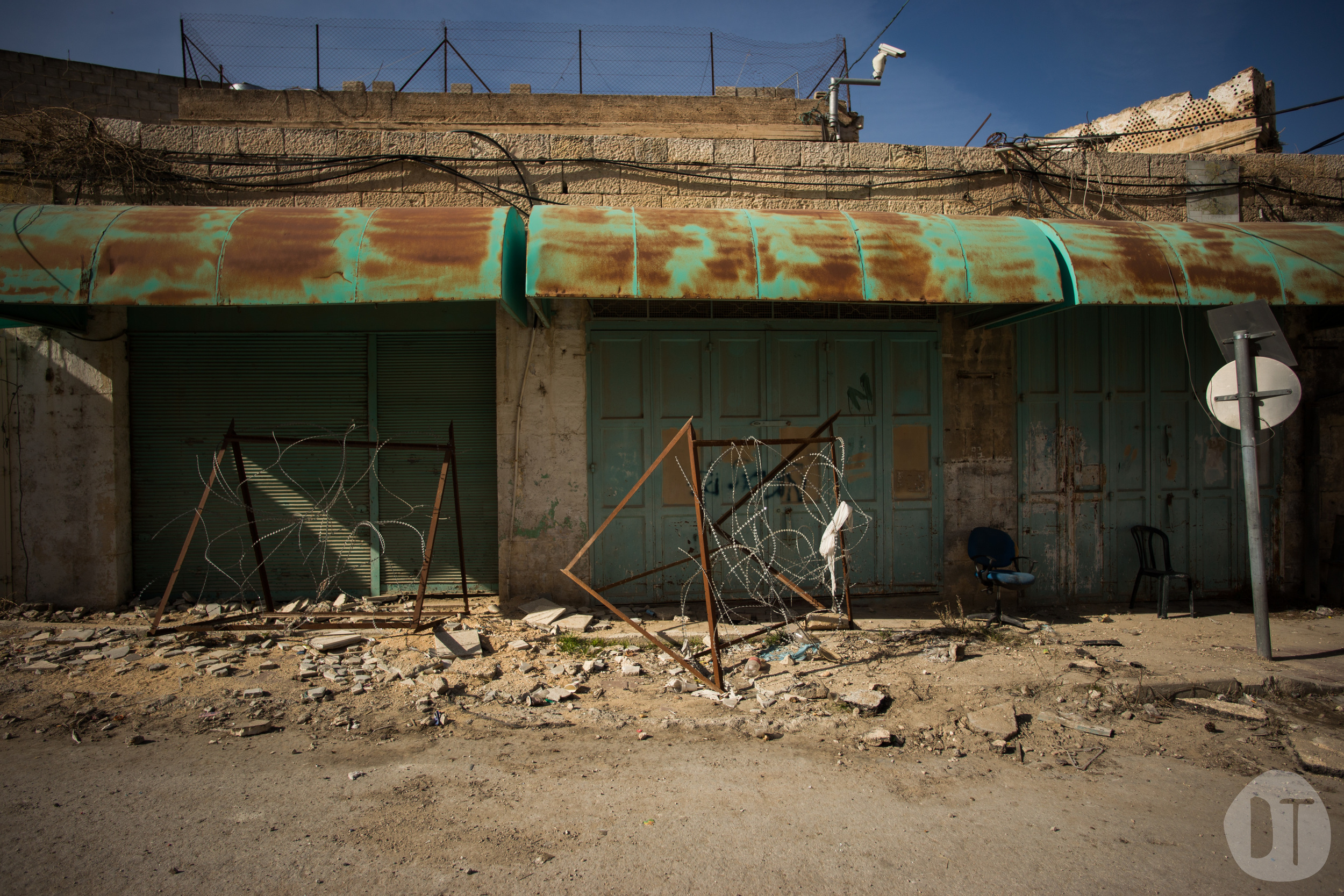 The Hebron enclave has a strong security presence.