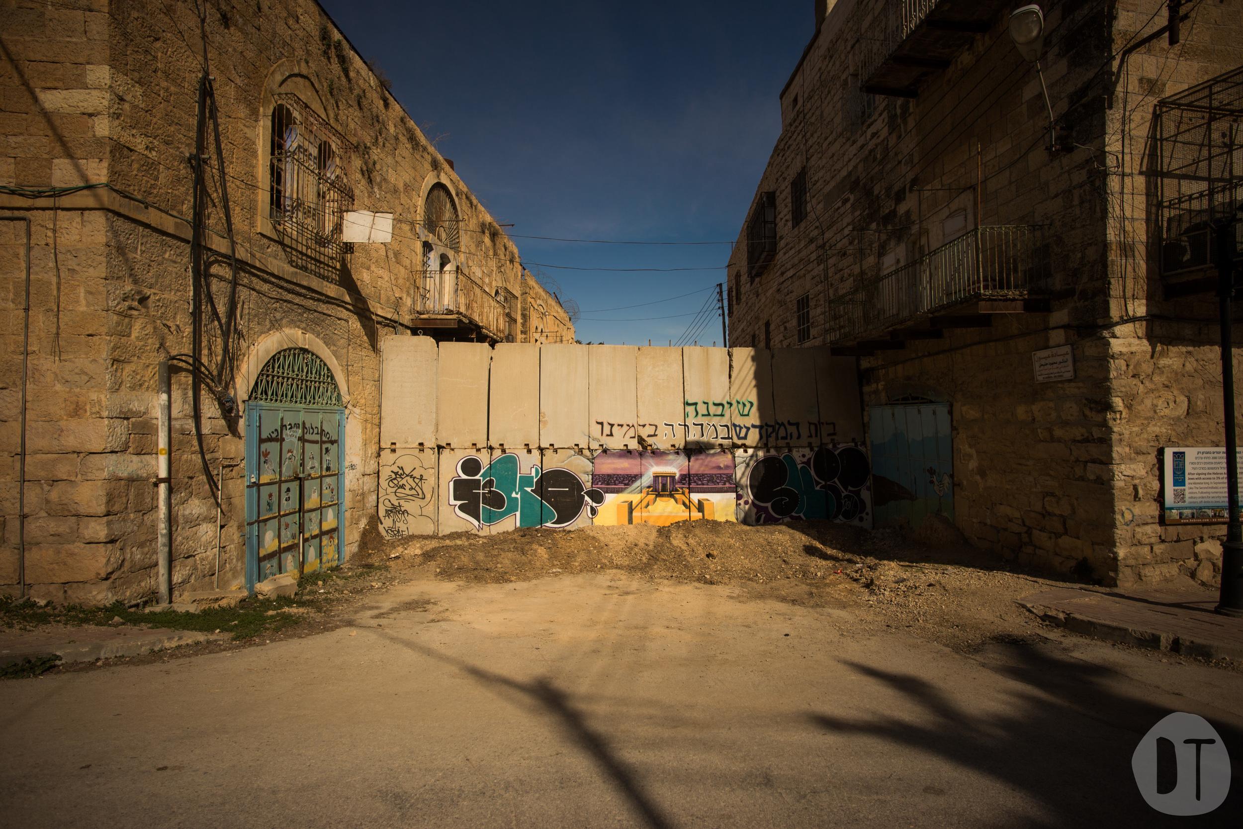 Fence in  Al-Shuhada Street - Hebron.