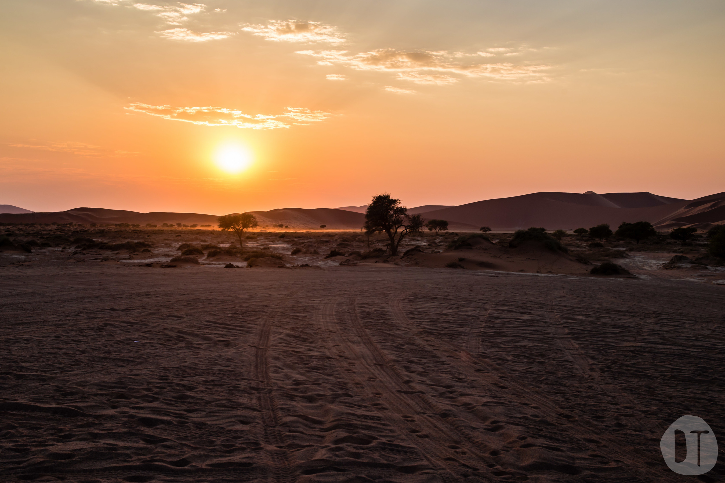 EARLY MORNING AT Sossusvlei, NAMIBIA