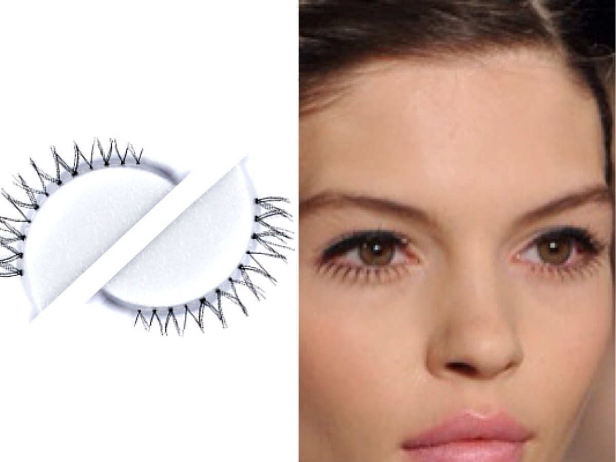 Create Modern 60's eye with Tokyo bottom lashes by Lilly Lashes