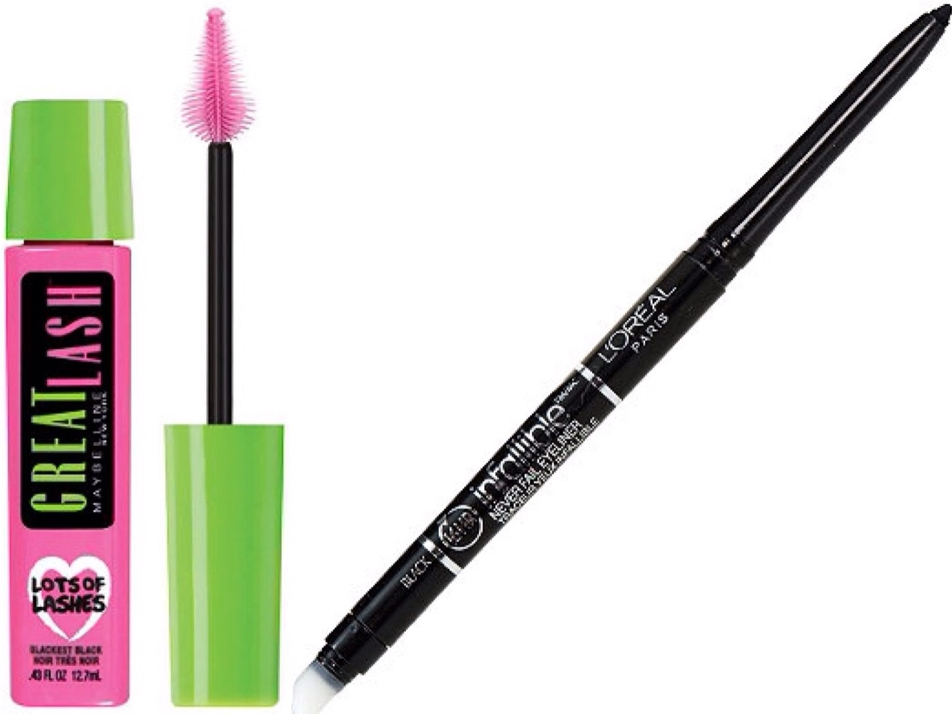 Maybelline Great Lash & L'oreal Infallible Eyeliner