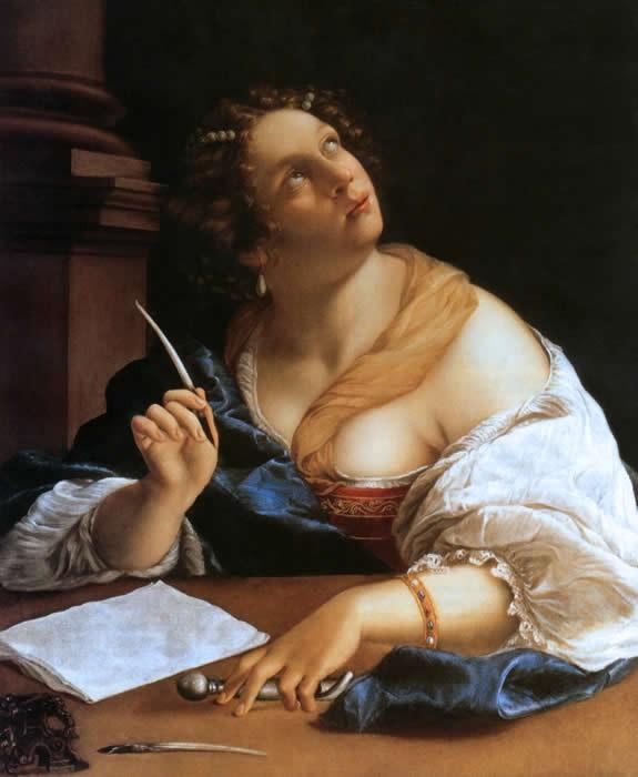 Artemisia Gentileschi, Allégorie de la Réthorique