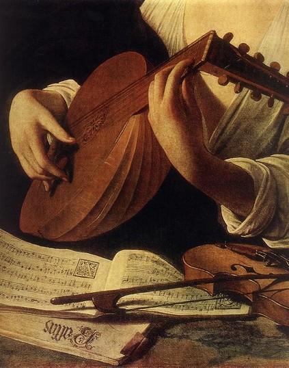 Caravaggio Le Joueur de Luth, détail