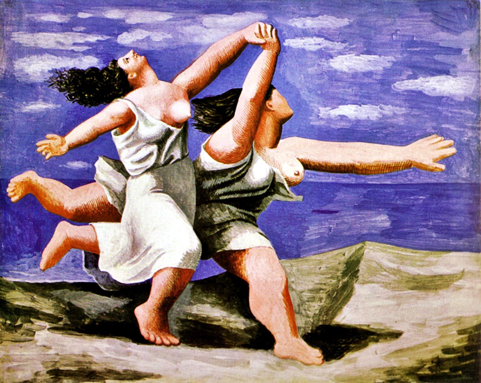 Picasso - Deux femmes courant sur la plage