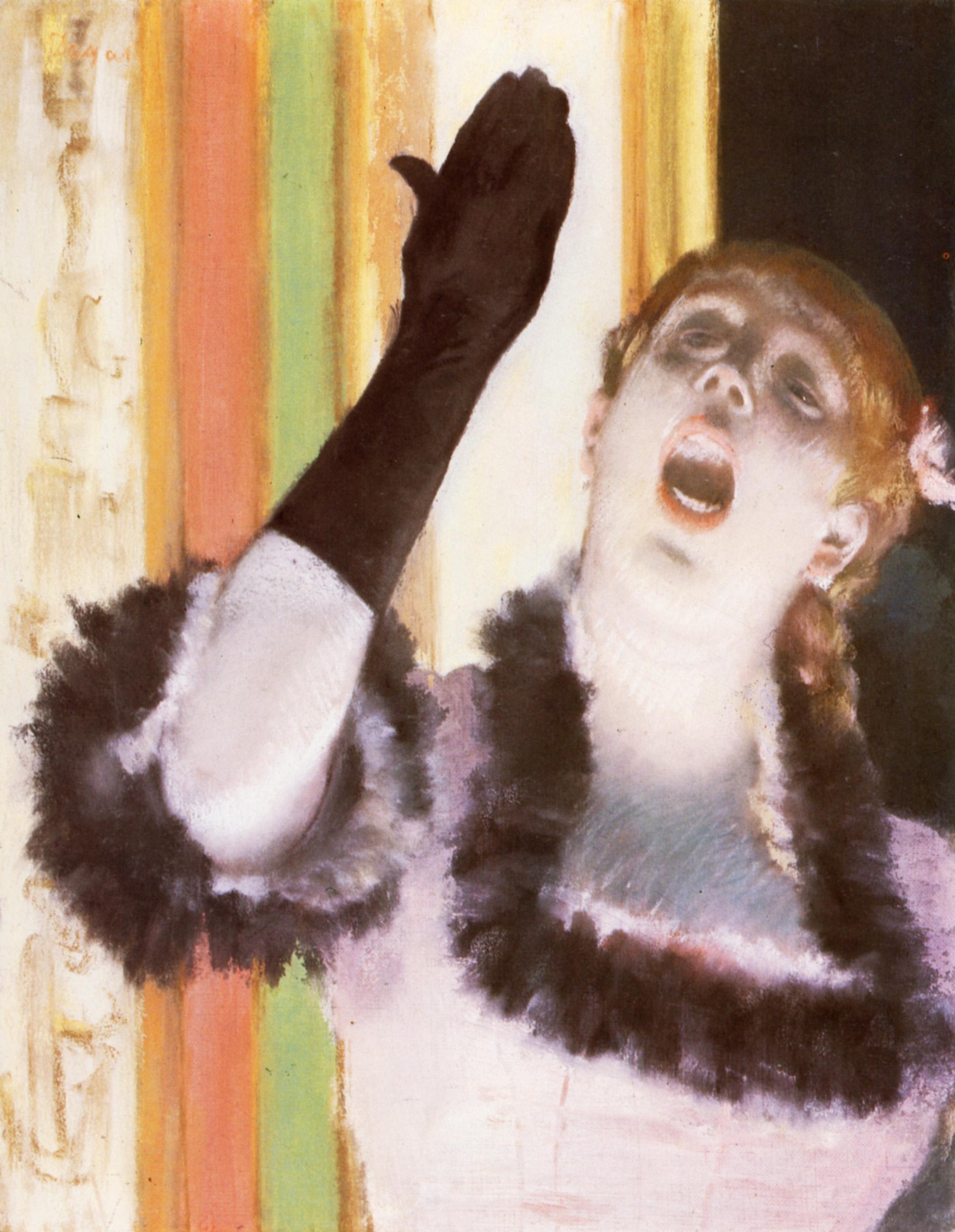 E. Degas - Singer with a glove