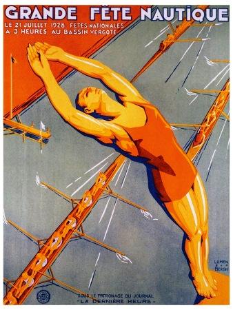 Vintage rowing poster