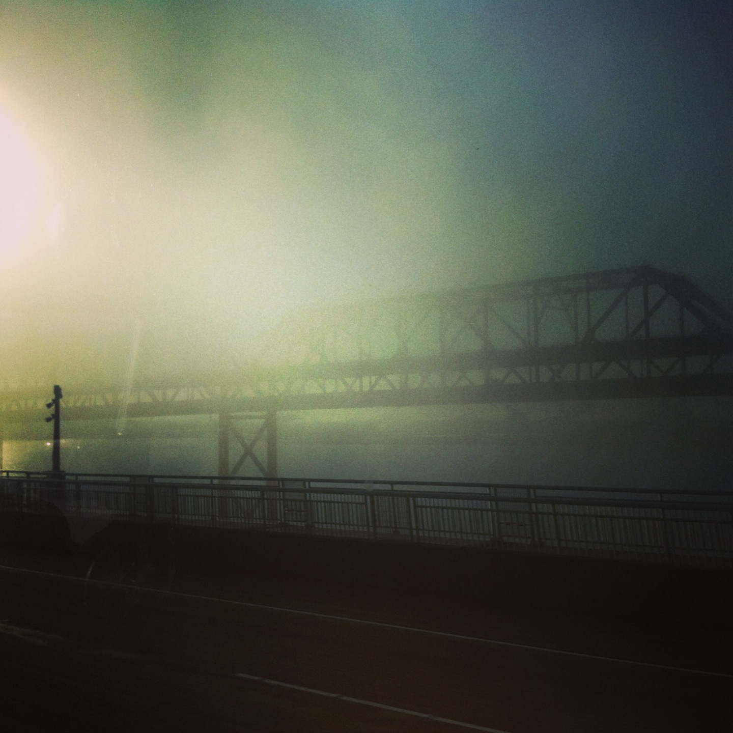 Fog over the Bay Bridge