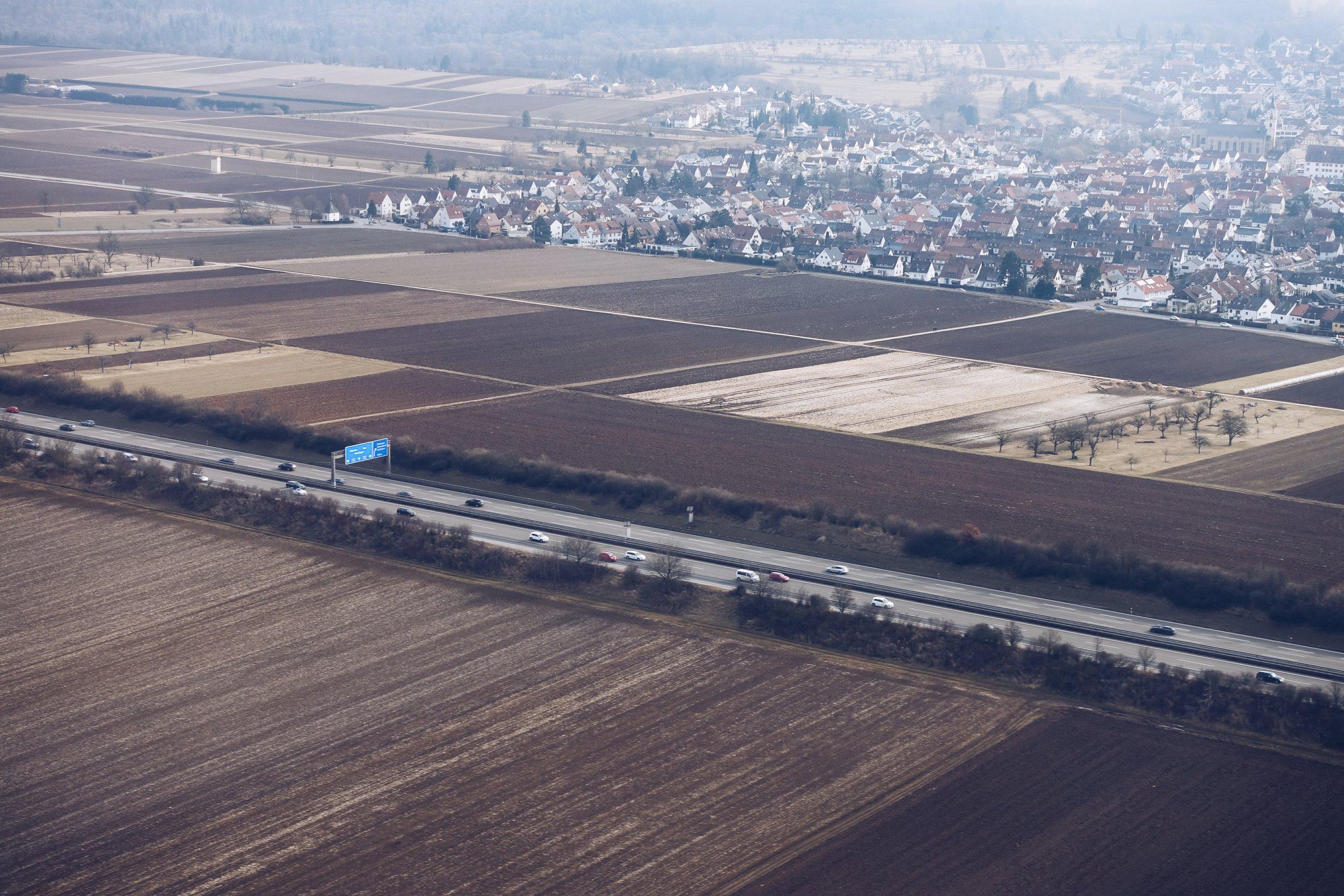 German Autobahn near Stuttgart