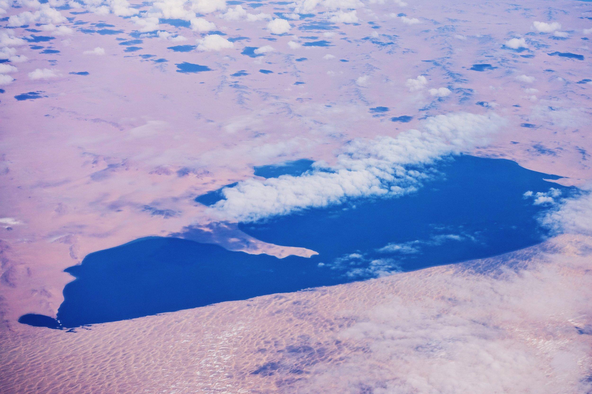 Bayan Nuur lake in Mongolia