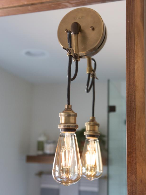 Change the Light Fixtures  Wether you are looking for brighter space or wanting to add a spark of personality, new lights will do that.