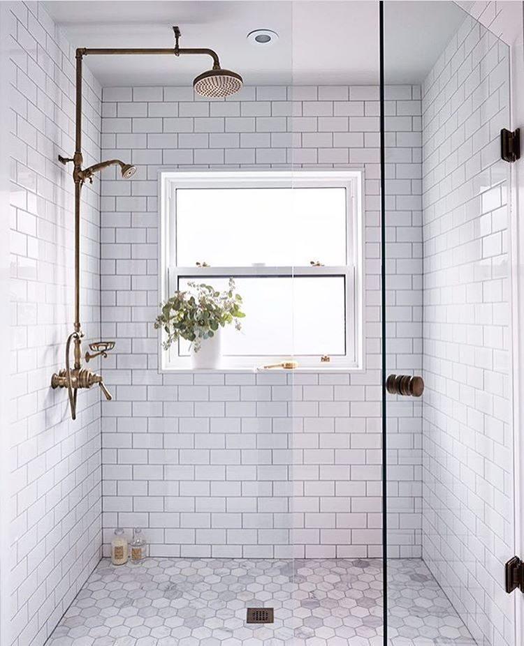 Re-tile the Shower  Re-tiling a shower is a great way to take a dated bathroom into the existing time. Subway tile or white marble is the way to go but do your research to find some bargains at salvage yard or online resale communities.