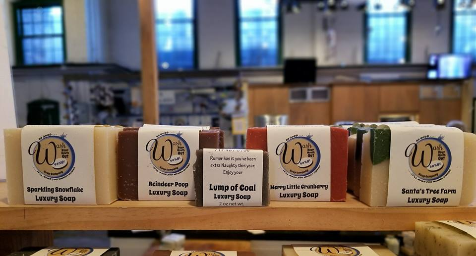 Wash Your Mouth Out Soap Company - Enjoy those long baths with handmade, natural soap just like grandma used to make....almost. Designed for dry, sensitive skin. It smells delicious and is fun to look at! All their favorite holiday scents are now available.