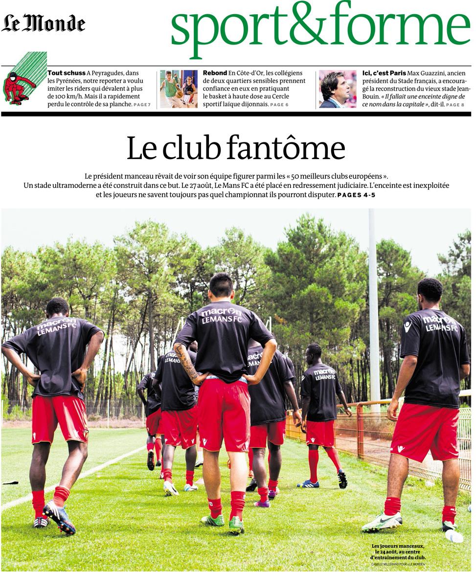 FC Le Mans pour Le Monde, cahier sport.