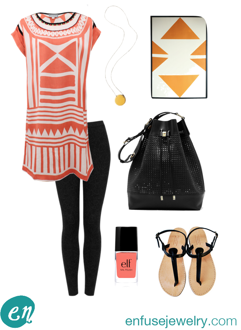 Express yourself with this creative look: pattern and color.
