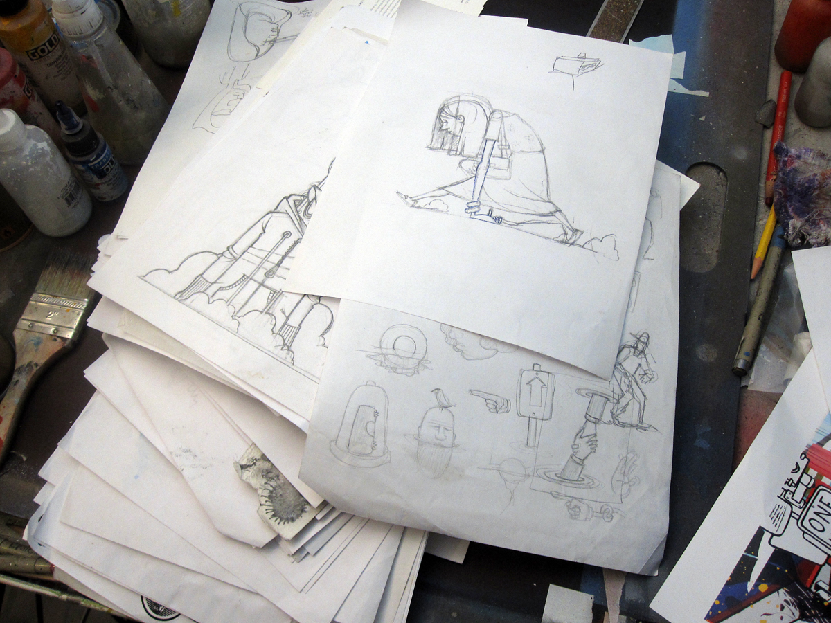 Time to go through the sketch pile.
