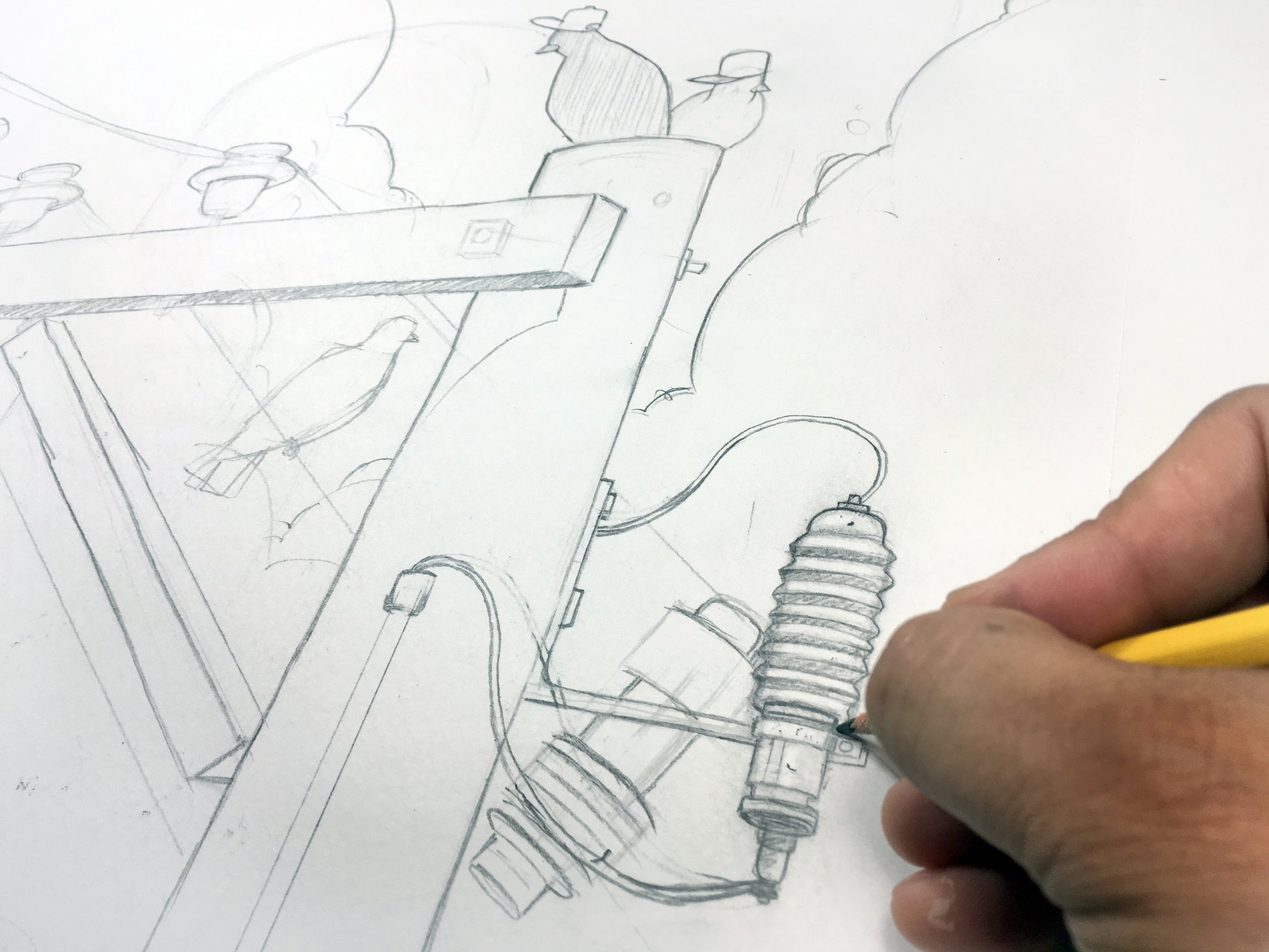 Sometimes to draw something you have to become very small so you can examine and understand the very minute details of very ordinary things. This will inevitably change the way you see the world around you and subsequently change the way you see the world inside you as well.