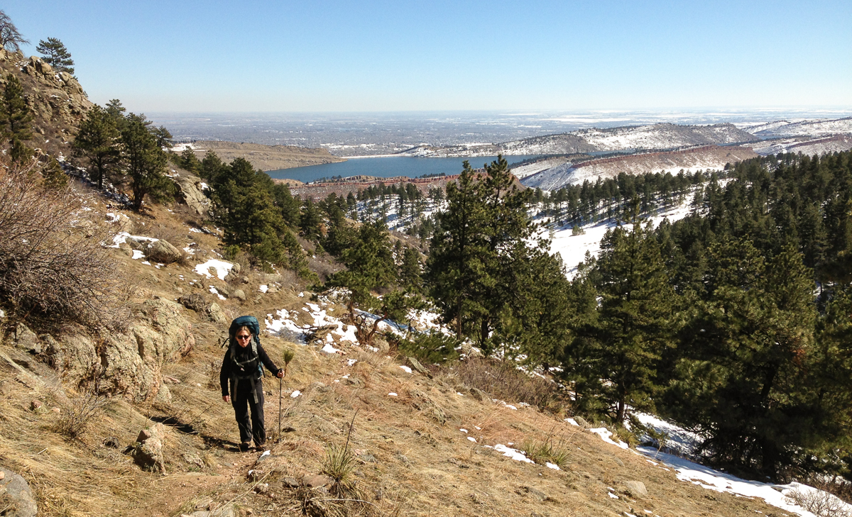 March 2015. Hiking up to Arthur's Rock, Fort Collins, Colorado.
