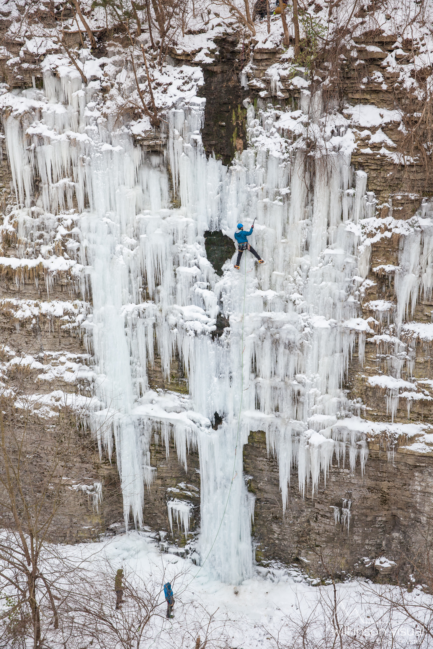 Heath Rowland makes an FA on a rare ice formation in Central Kentucky.
