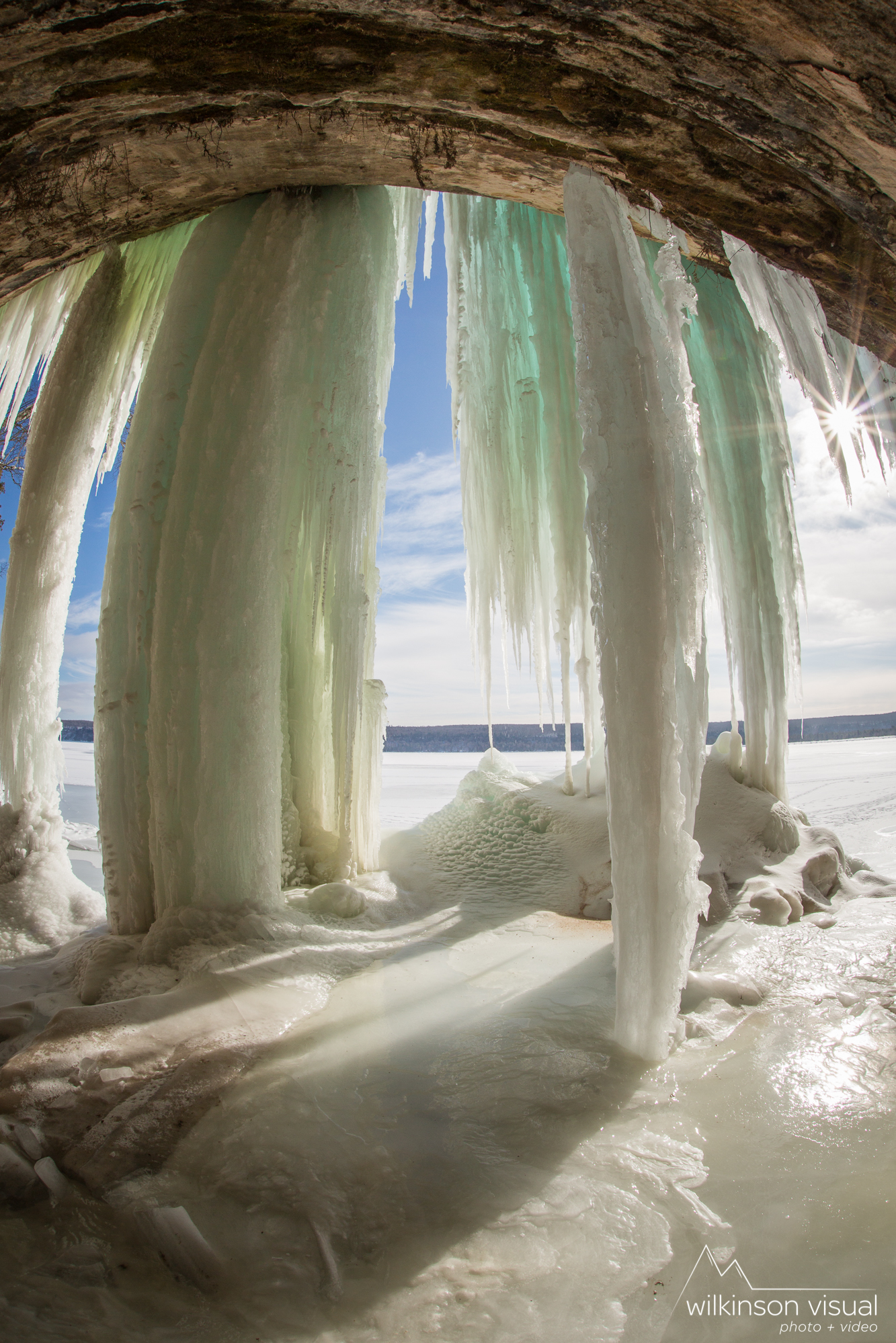 An ice cave on Lake Superior.