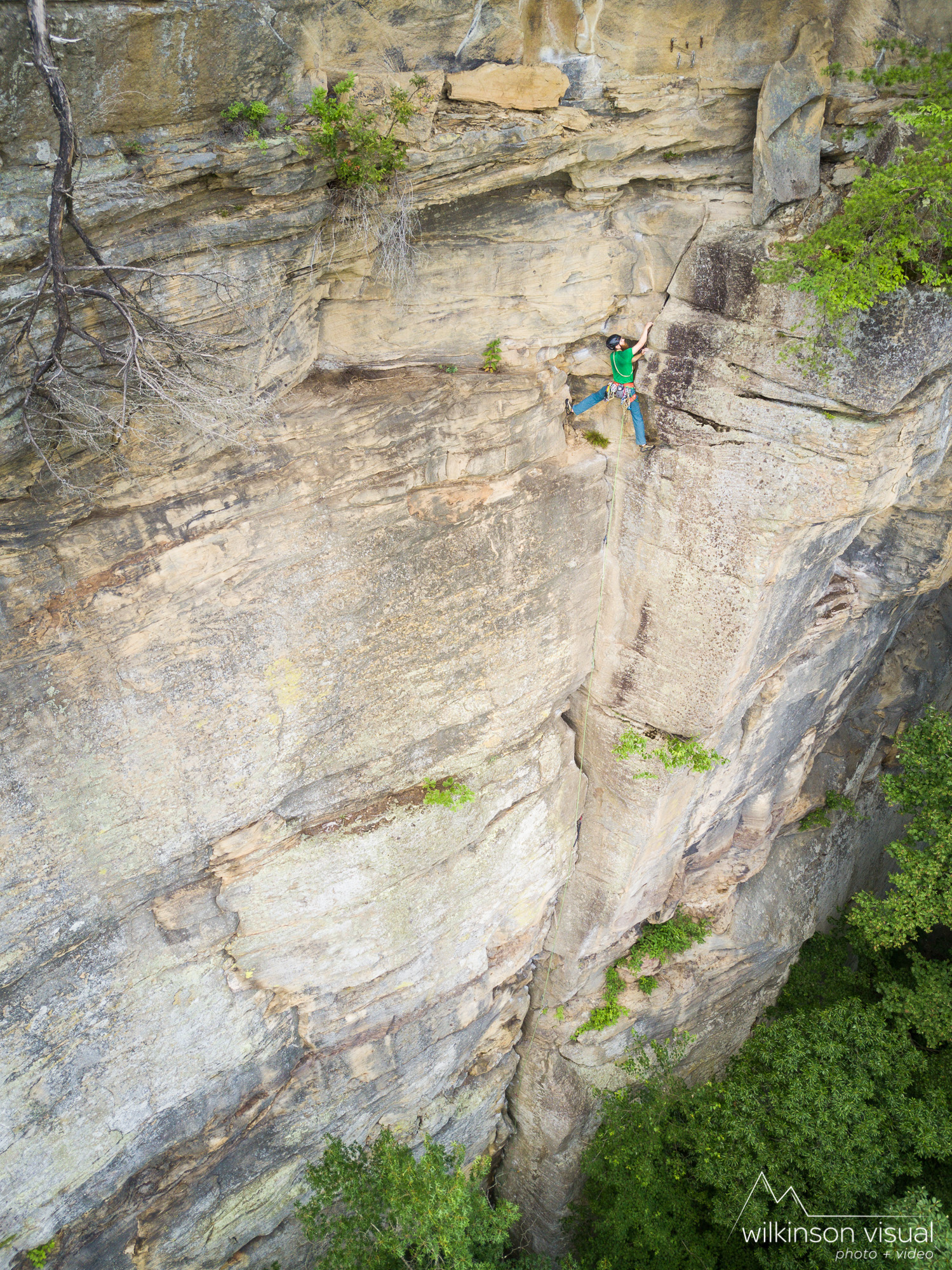 Dan Hastings climbs Party Time in the Red River Gorge.