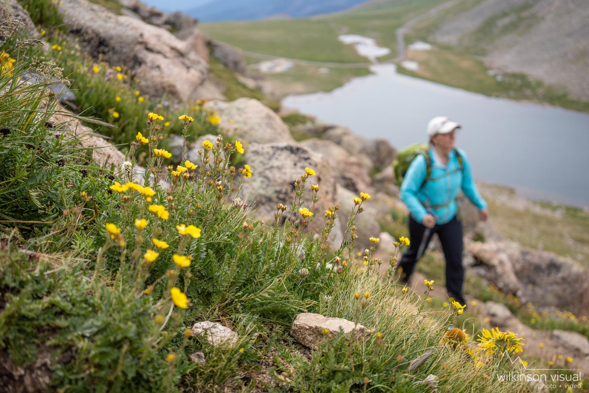 Jen Meunier hikes near Mt. Evans, Colorado.