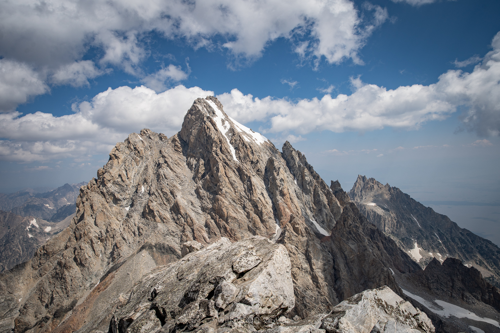 The Grand Teton (13,776ft) as seen from the summit of the Middle Teton (12,805ft).