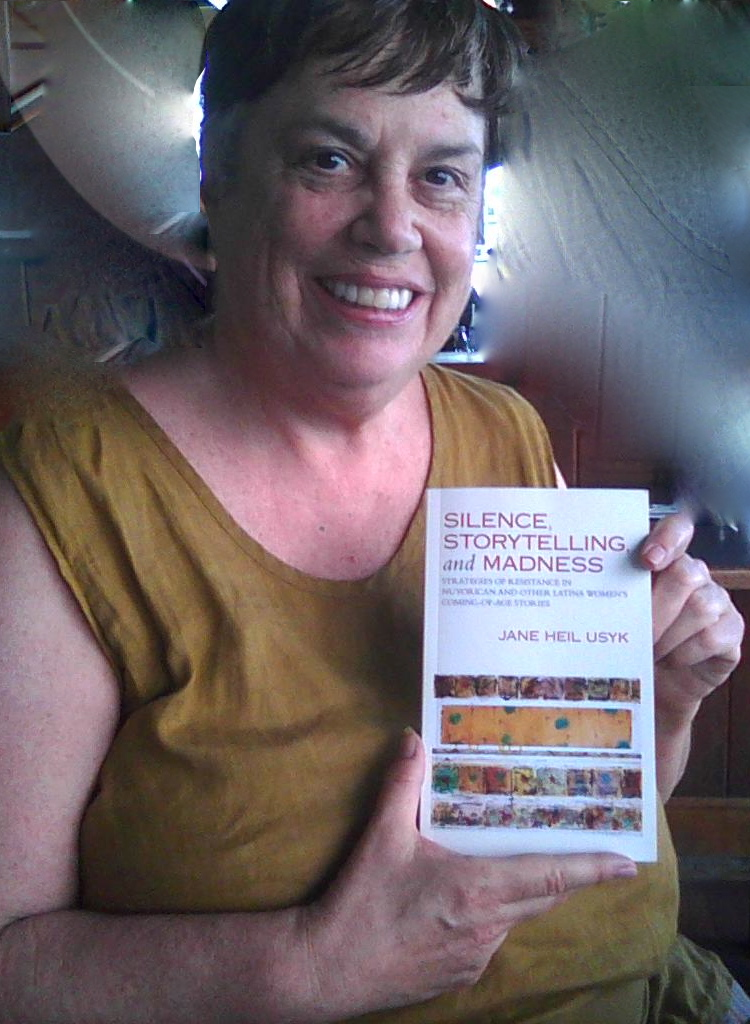(Author Jane Heil Usyk, with book.)