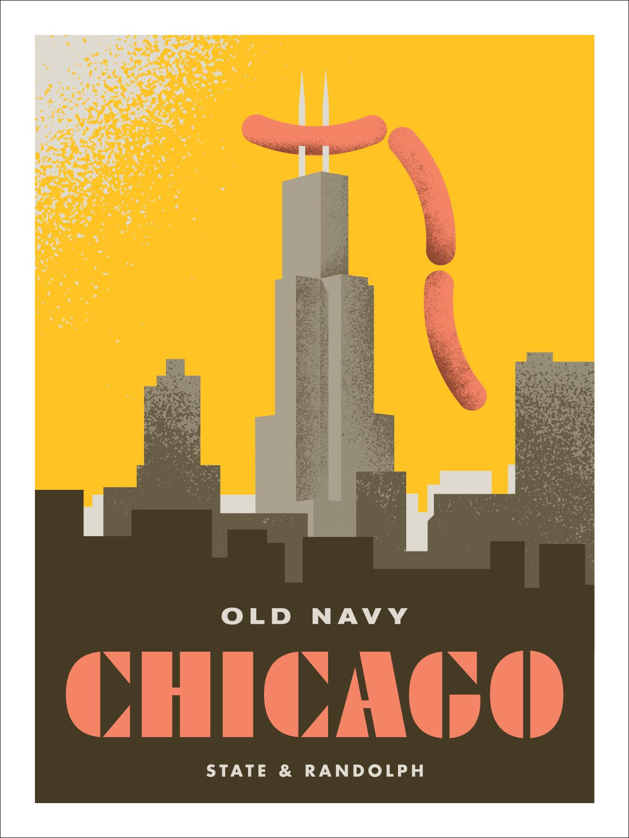 Old Navy Landmark Poster_Chicago-2