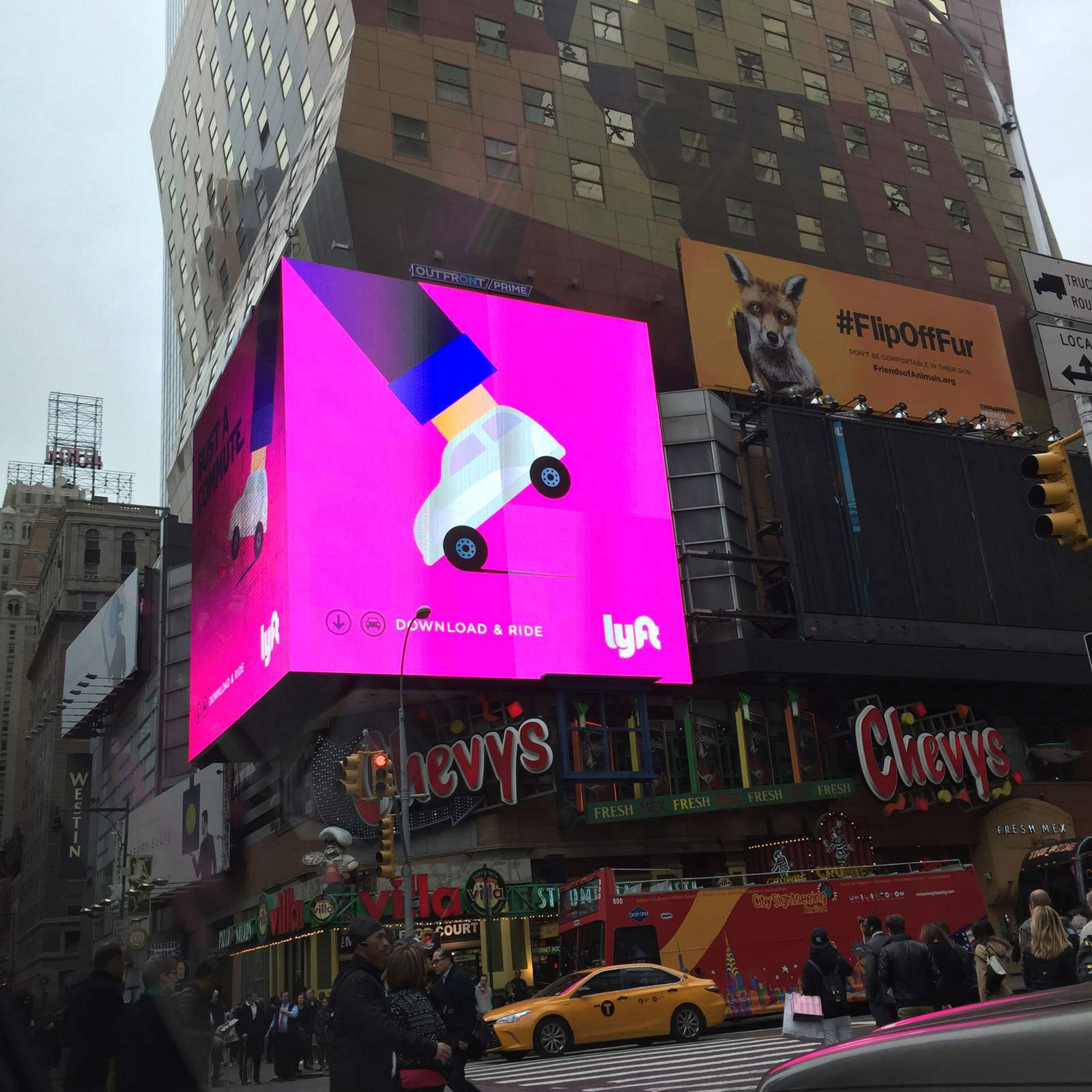 LYFT Advertising Campaign - illustrated by  Noma Bar.  42nd Street, New York, NY