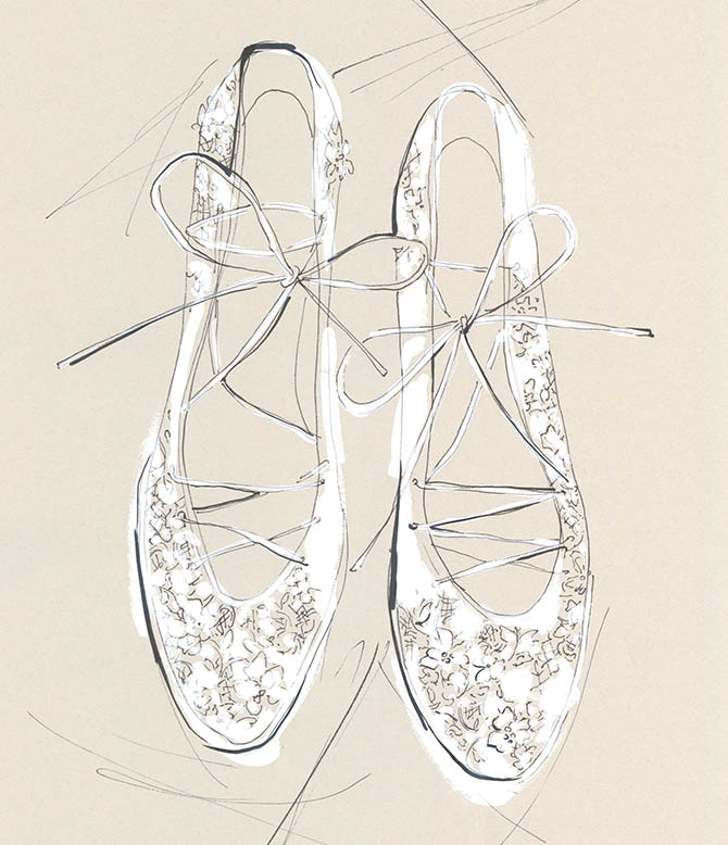 Yoco Nagamiya - favourite things - Lace ballet flat