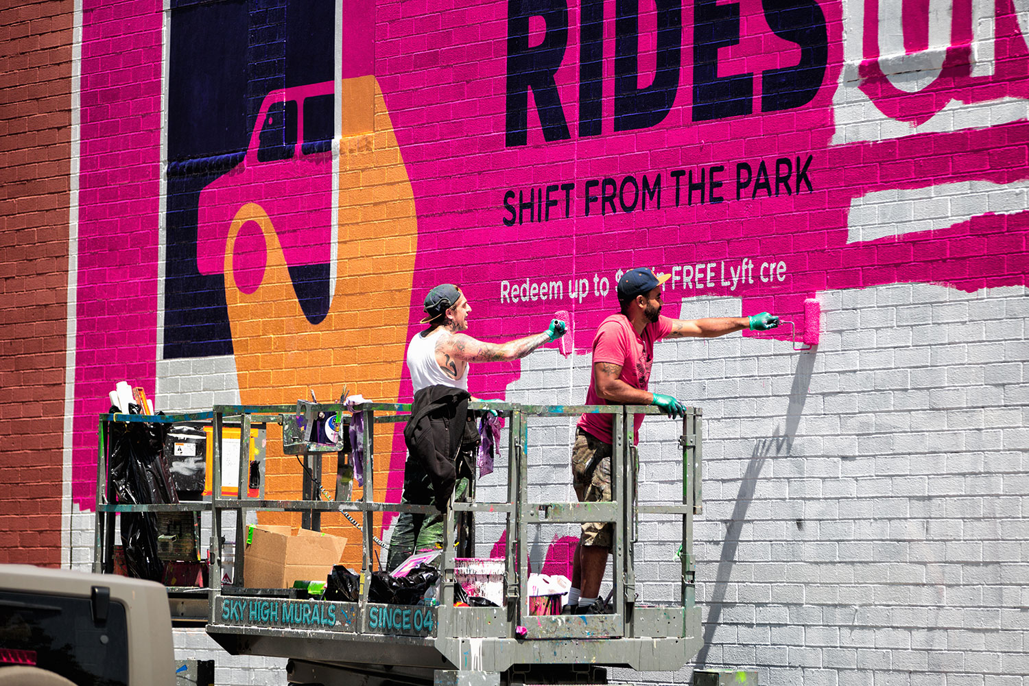 LYFT Mural illustrated by  Noma Bar